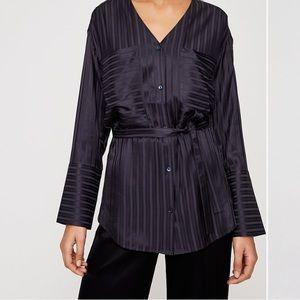 Wilfred Zelie Shirt Belted, v-neck blouse